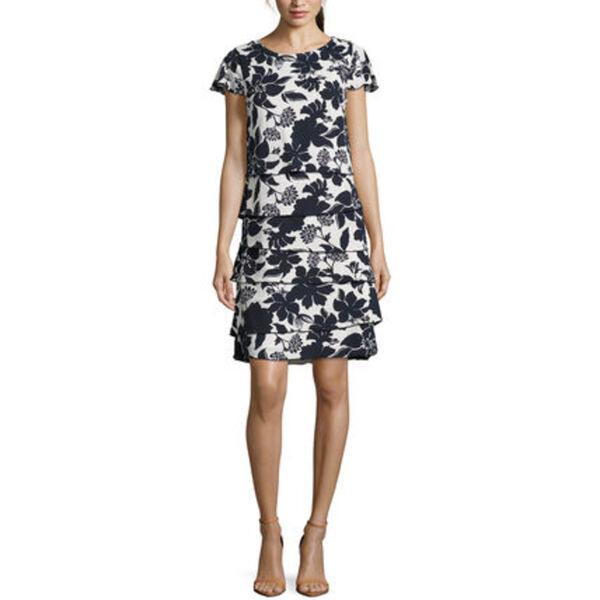 Betty Barclay Damen Kleid Kurzarm Mit Print Von Galeria