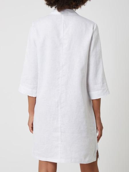 Betty  Co Grey Hemdblusenkleid Aus Leinen In Weiß Online