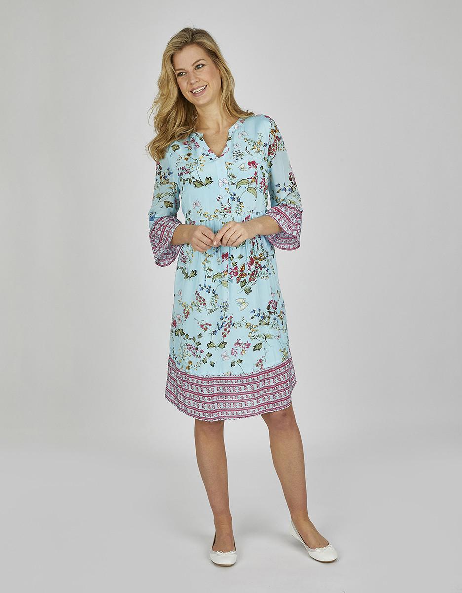 Bexleys Woman  Kleid Mit Blüten Und Schmetterlingen Von