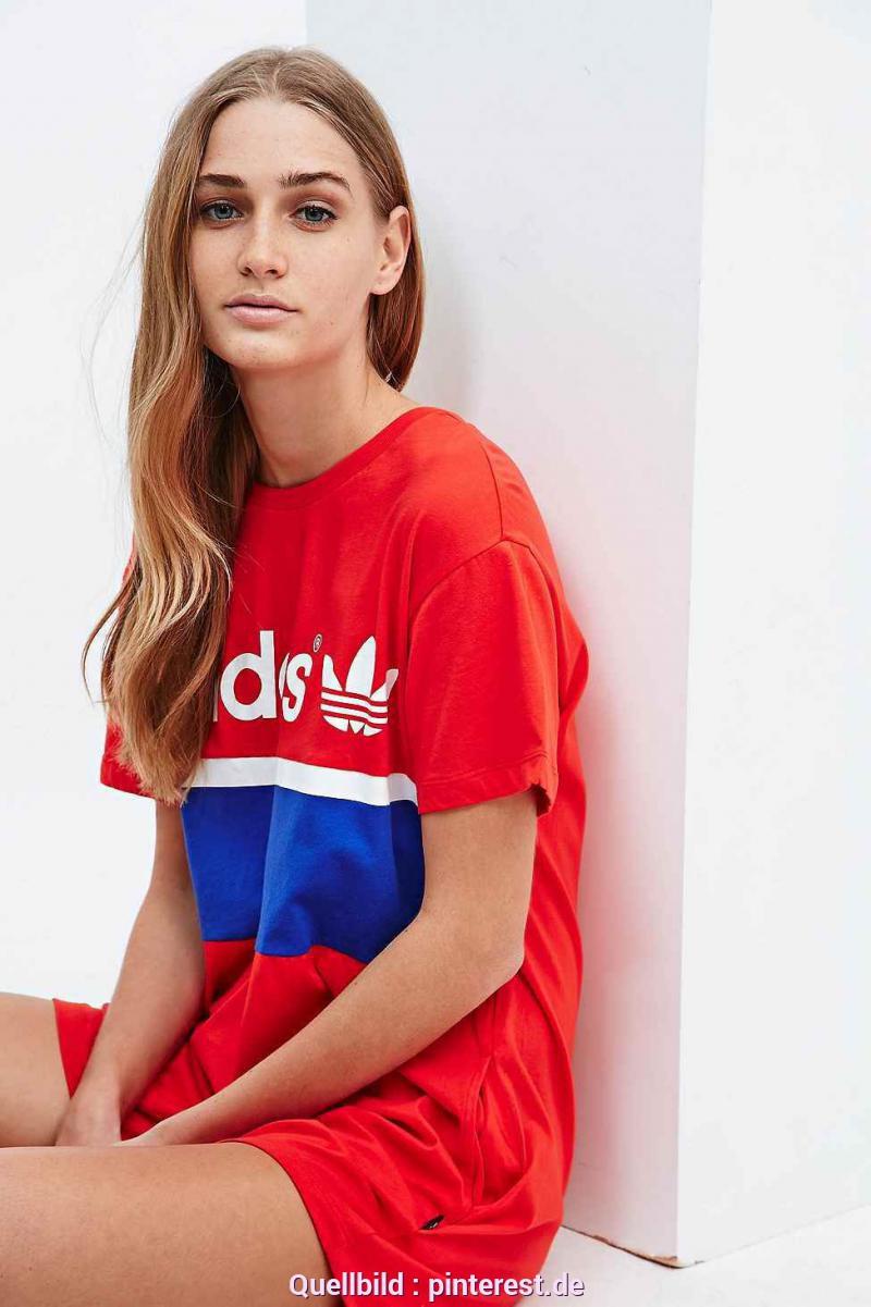 Bezaubernd Rotes T Shirt Kleid Adidas  Tshirtkleid