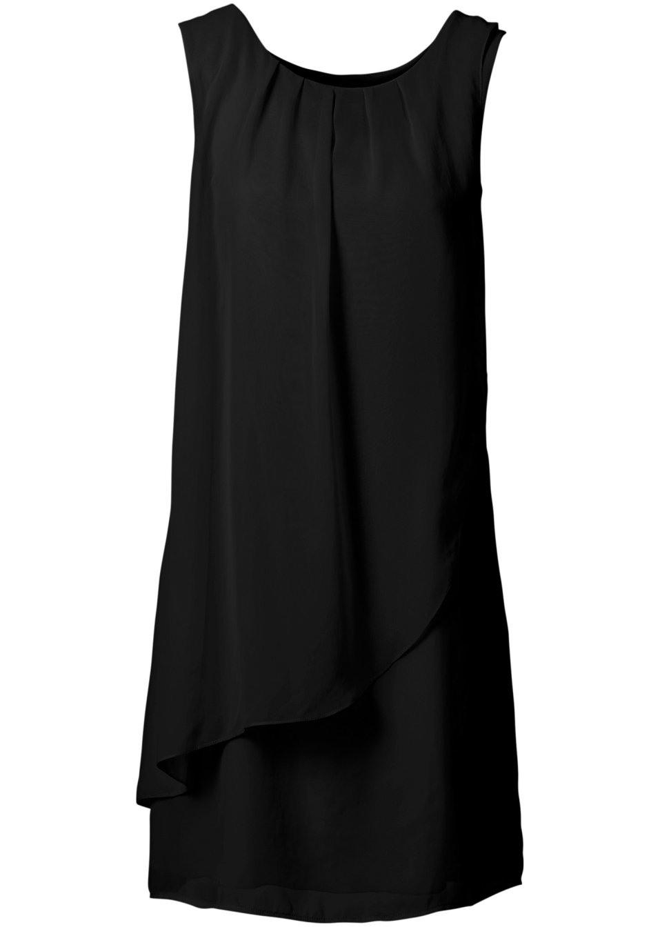 Bezauberndes Kleid Im Eleganten Design  Schwarz