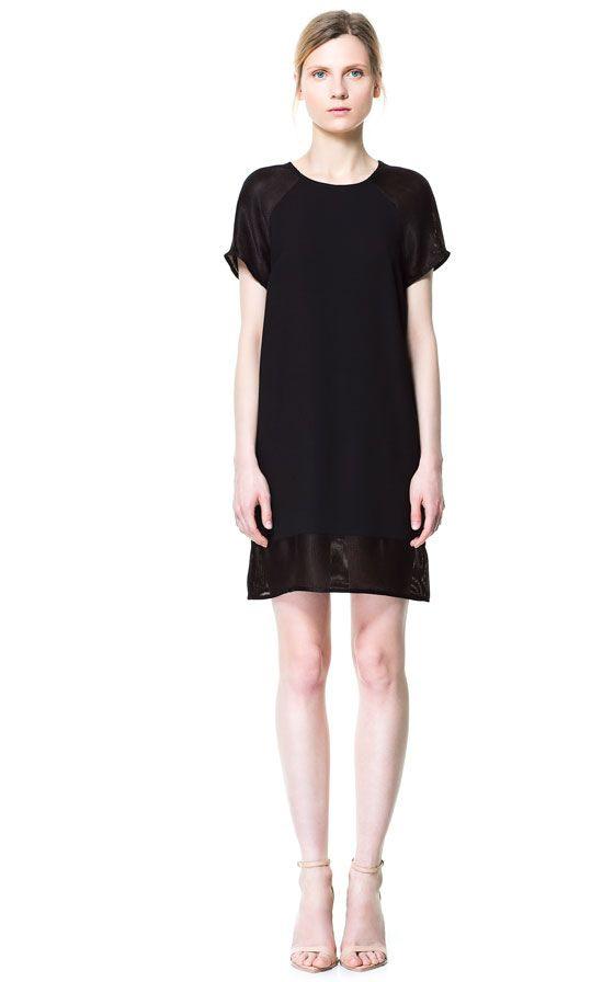 Bild 1 Von Kleid Aus Mischgewebe Mit Meshdetails Von Zara