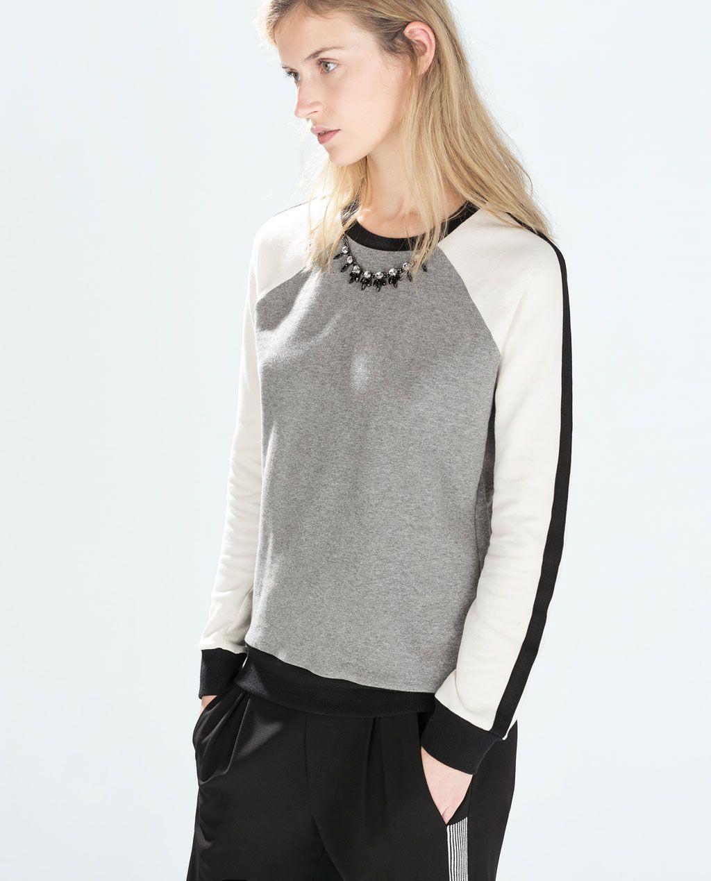 Bild 1 Von Kombinierter Pullover Mit Strassbesatz Von Zara