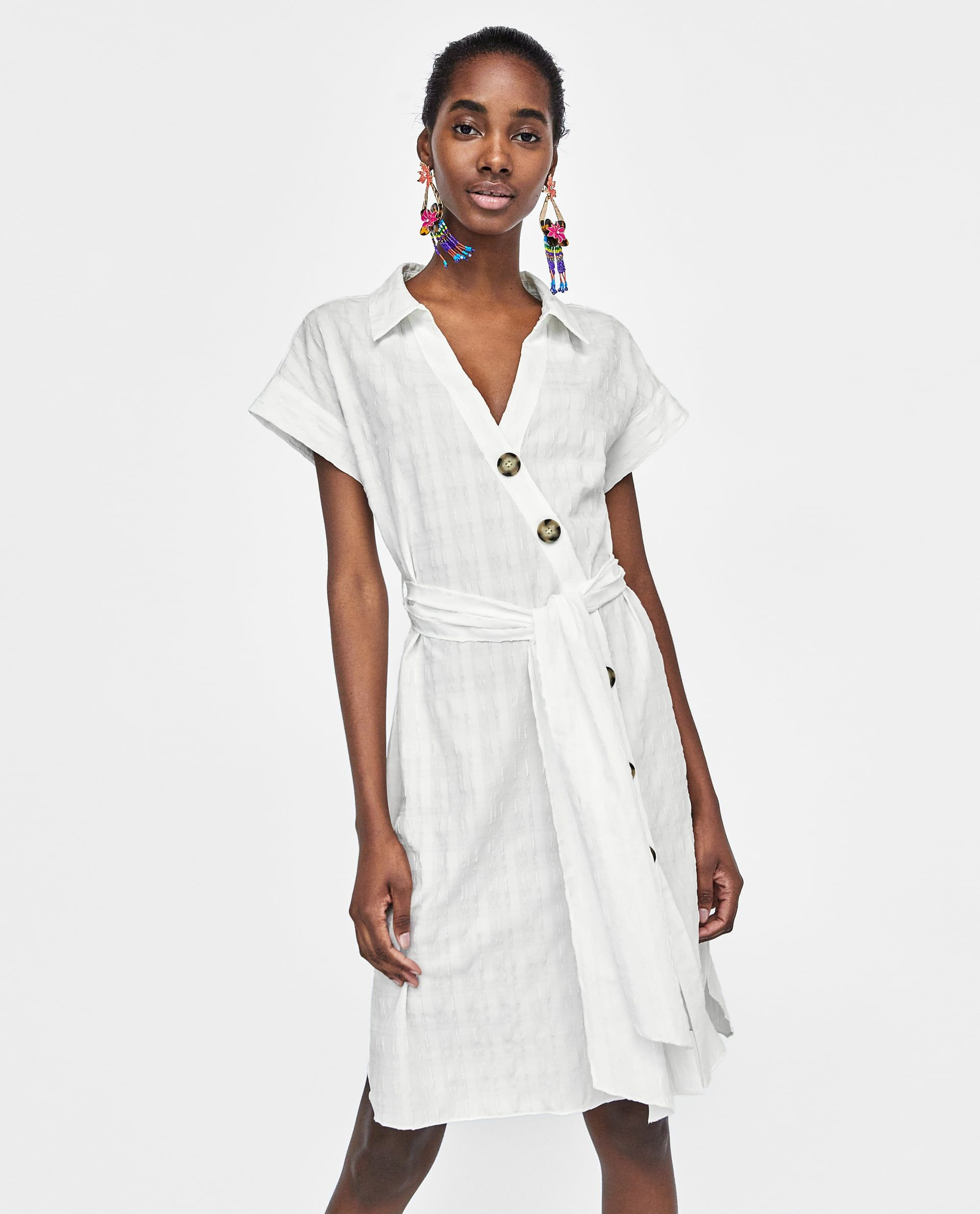 Bild 2 Von Hemdblusenkleid Mit Strukturmuster Von Zara