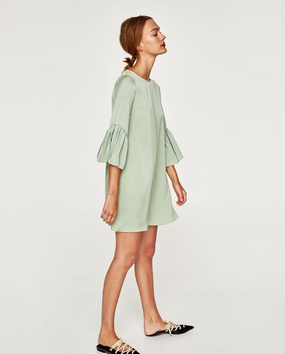 Bild 3 Von Kleid Mit Volant Am Ärmel Von Zara  Kleid Mit