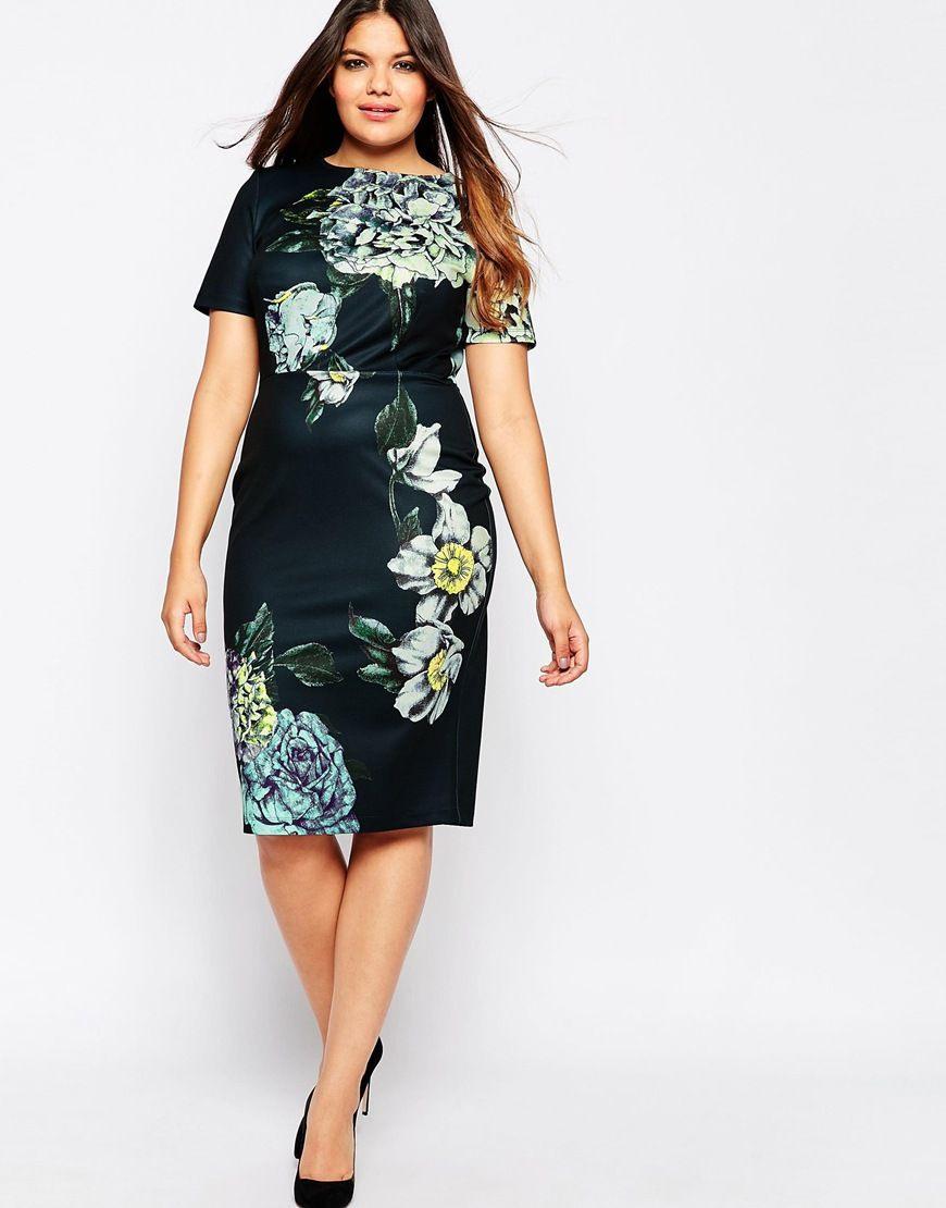 Bild 4 Von Asos Curve  Premium  Figurbetontes Kleid Mit