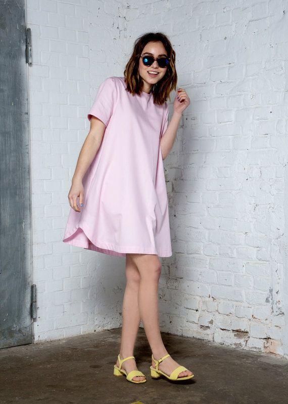 Biobaumwolle Oversized Tshirt Kleid Minimalistischen  T
