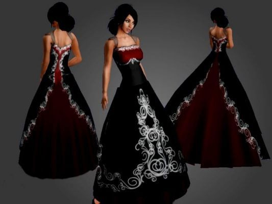 Black And Red Corset Wedding Dresses Mit Bildern