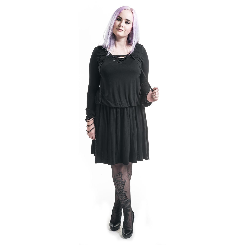 Black Premiumemp Mittellanges Kleid »Corded Swing
