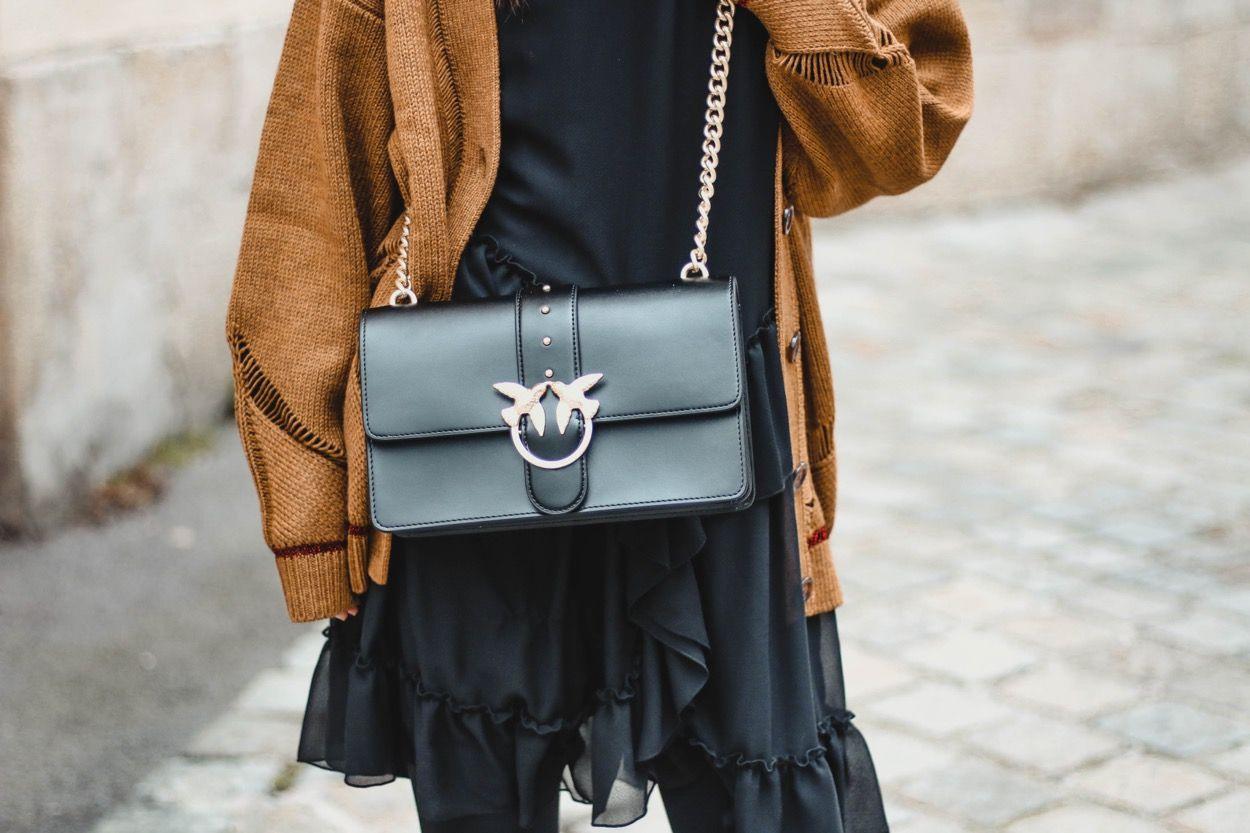 Black Seechloé Dress  Kleid Mit Volant