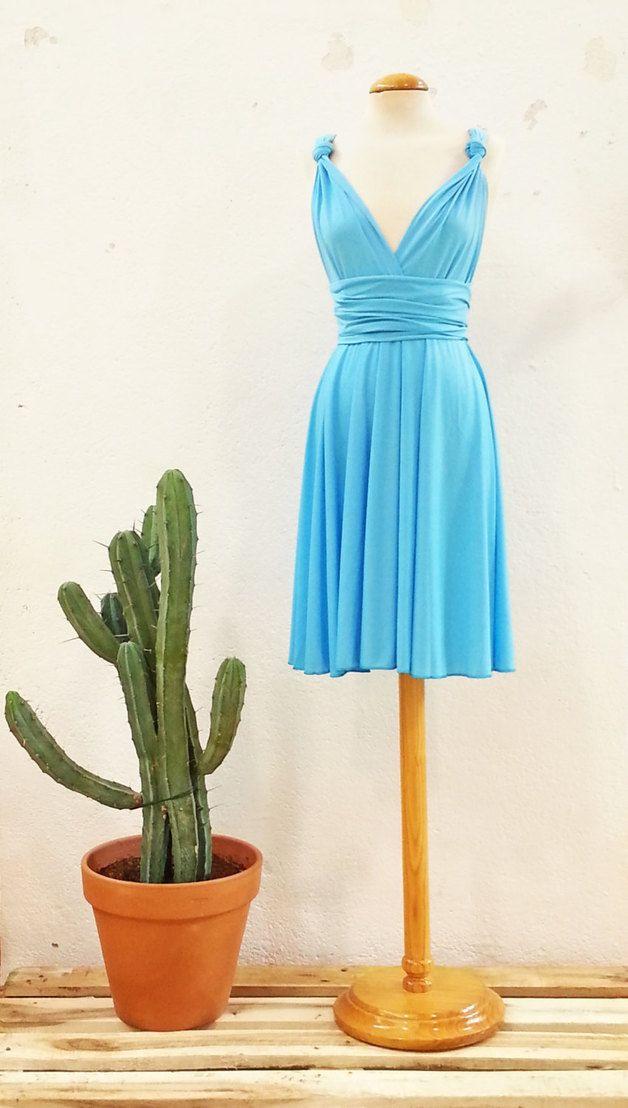 Blau Malibu Abendkleid Romantisch Kleidung Ere