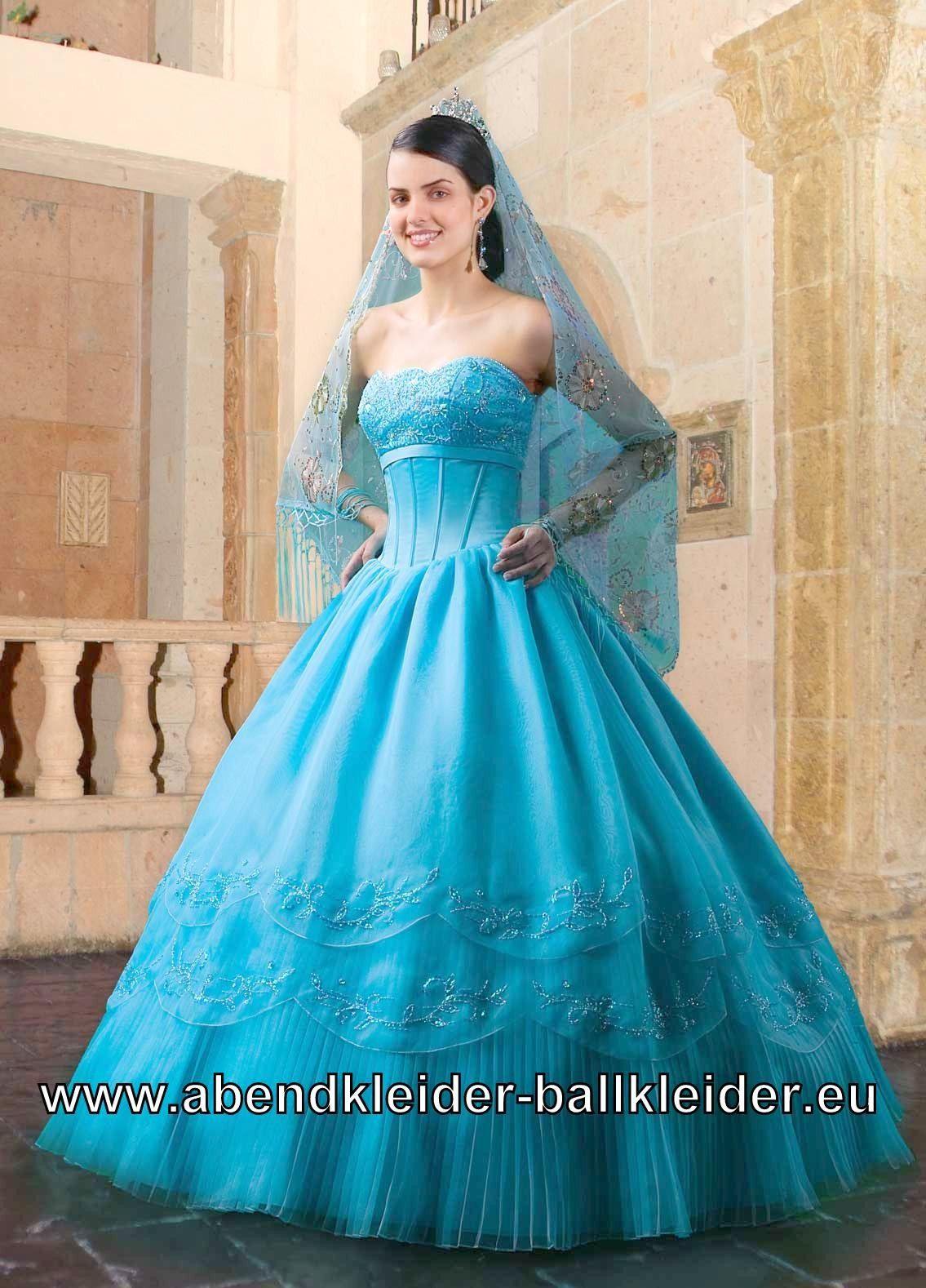 Blaues Cinderella Kleid Ballkleid Brautkleid Auch Mit