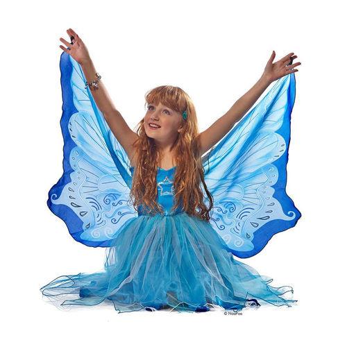 Blaues Feenkleid Mit Flügeln Als Kostüm Dreamy Dressups