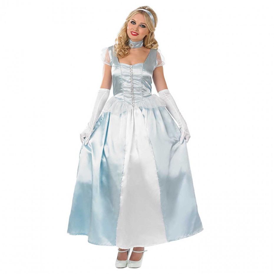 Blaues Prinzessin Kleid Damen