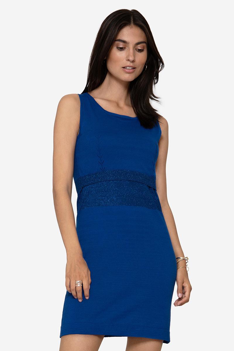 Blaues Stillkleid Aus Bio Baumwolle  Momelino