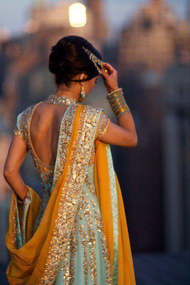 Blondelicious Diamonds  Indisches Kleid Hochzeitsoutfit