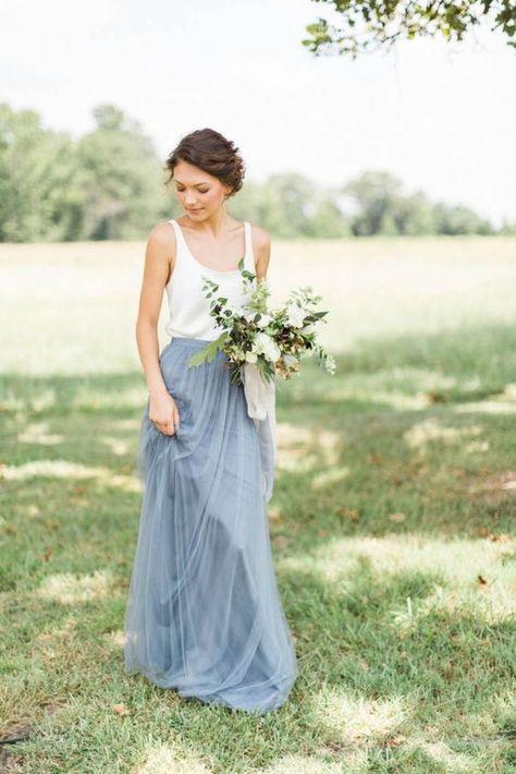 Blue Tulle Maxi Skirt  Kleider Hochzeit Hochzeit