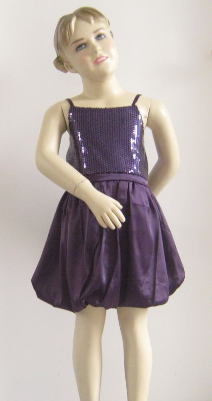 Blumenkind Mädchen Festkleid Liv Violett Größe 116