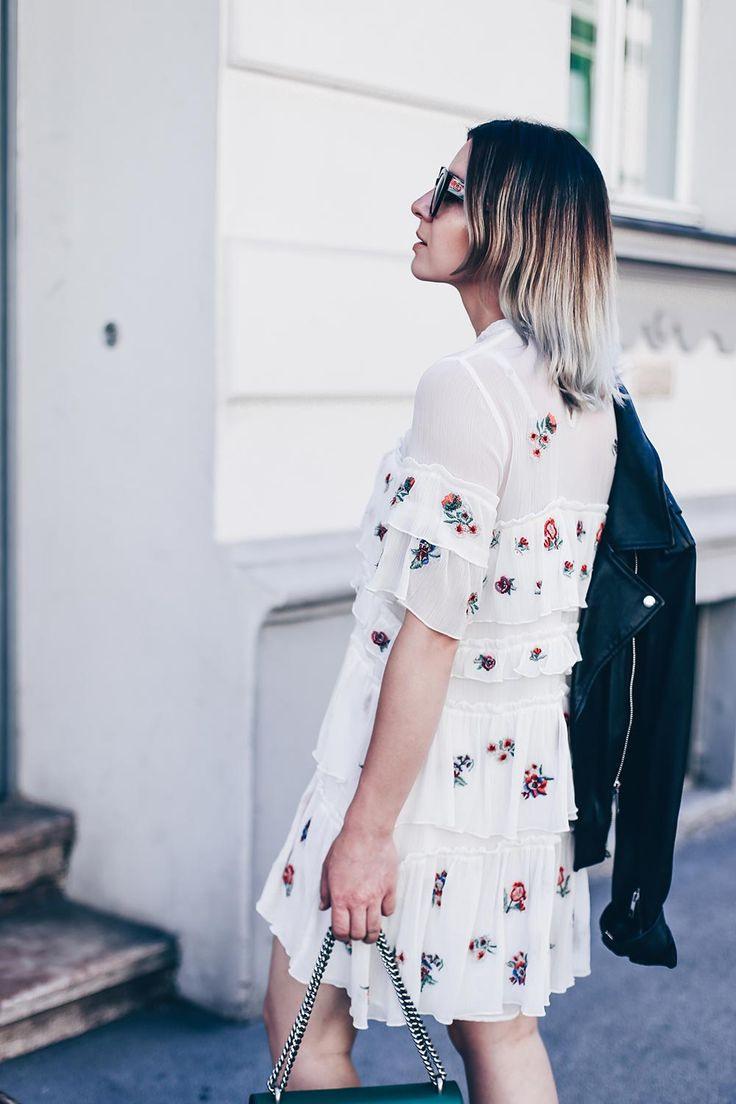 Blumenkleid Von Zara Im Sommer Zu Acne Loma Boots Gucci