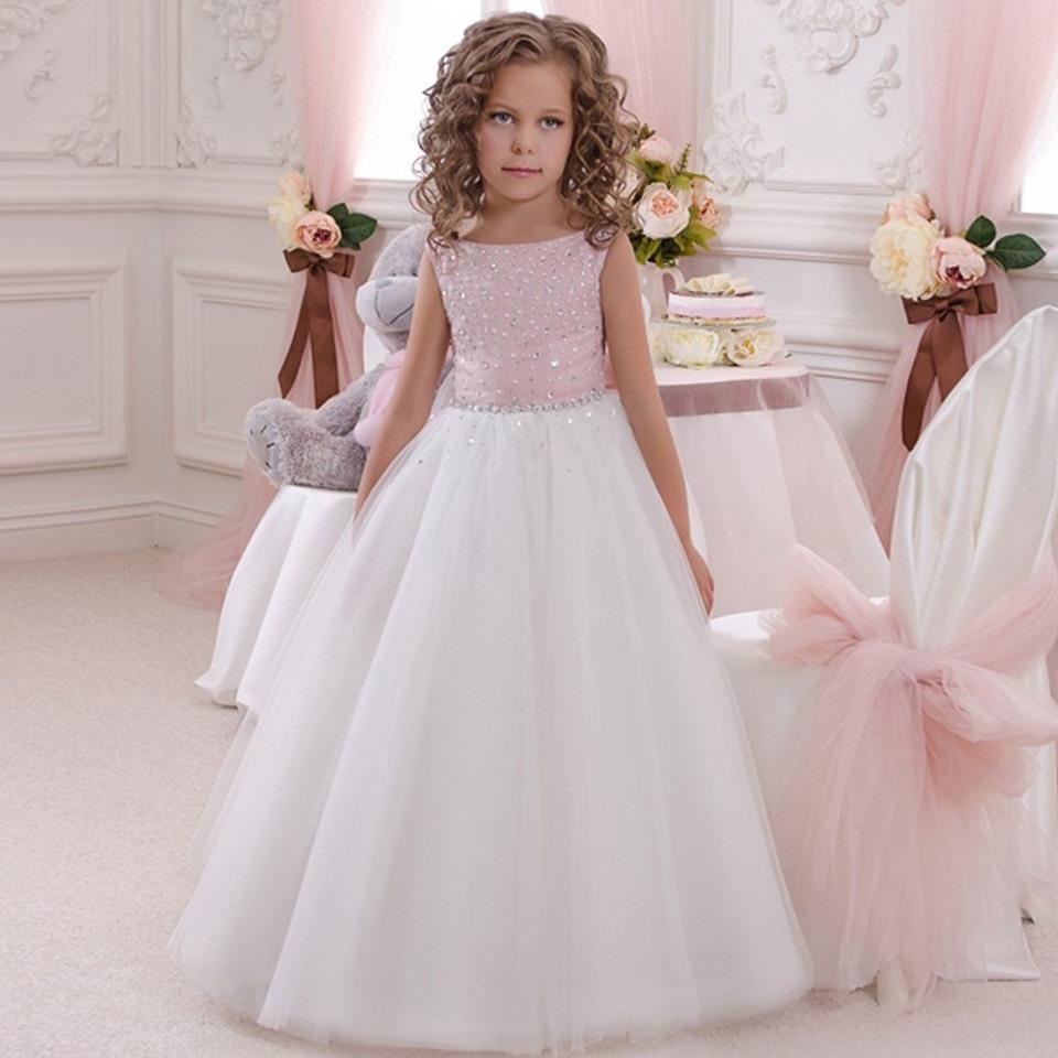 Blumenmädchen Kleid Rosa Weiß Tutu Kleid Babytutu