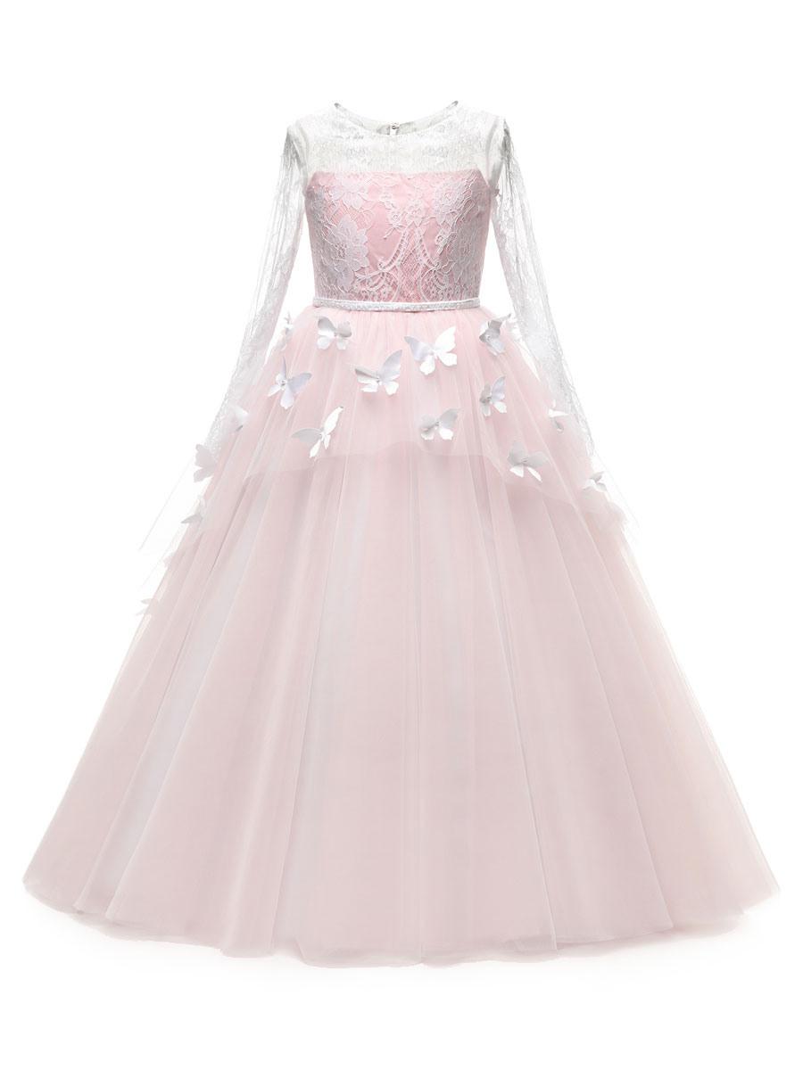 Blumenmädchen Kleider Prinzessin Rosa Abendkleider Für