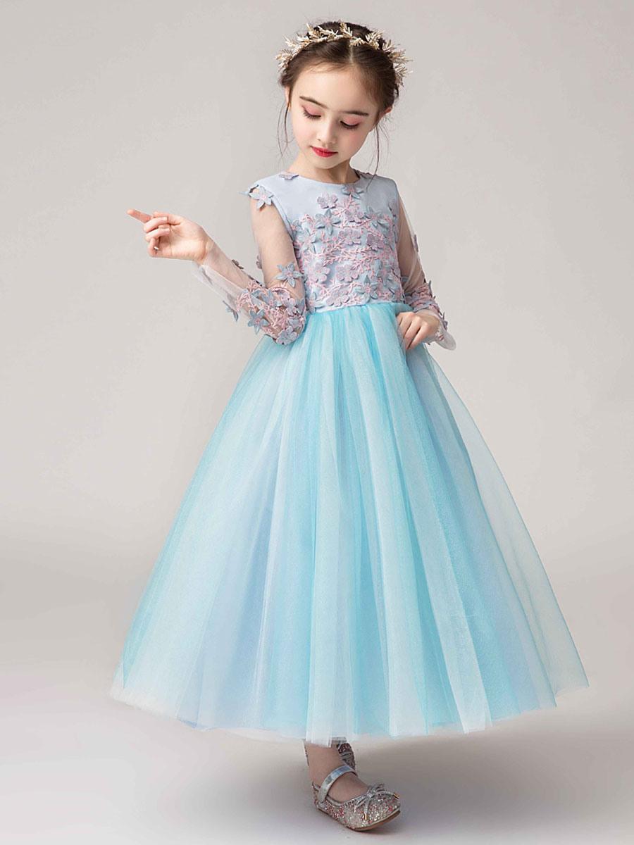 Blumenmädchen Kleider Prinzessin Weiß Abendkleider Für