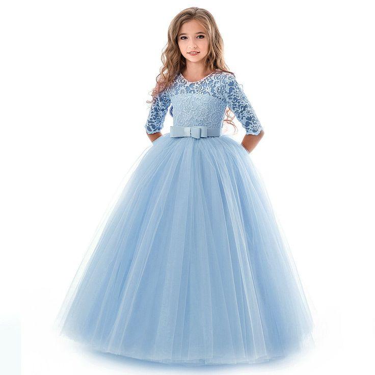 Blumenmädchen Prinzessin Kleid Party Hochzeit Mädchen