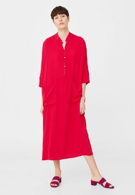 Blusenkleid Rot