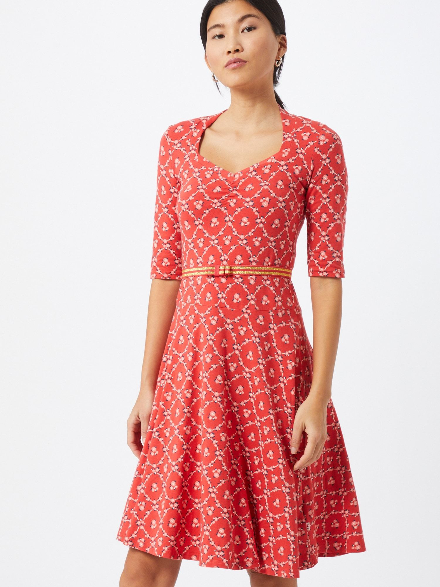 Blutsgeschwister Kleid Damen Rot Größe 34 In 2020