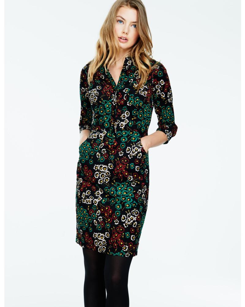 Boden Damen Grün Hemdblusenkleid Aus Cord Und Denim 50