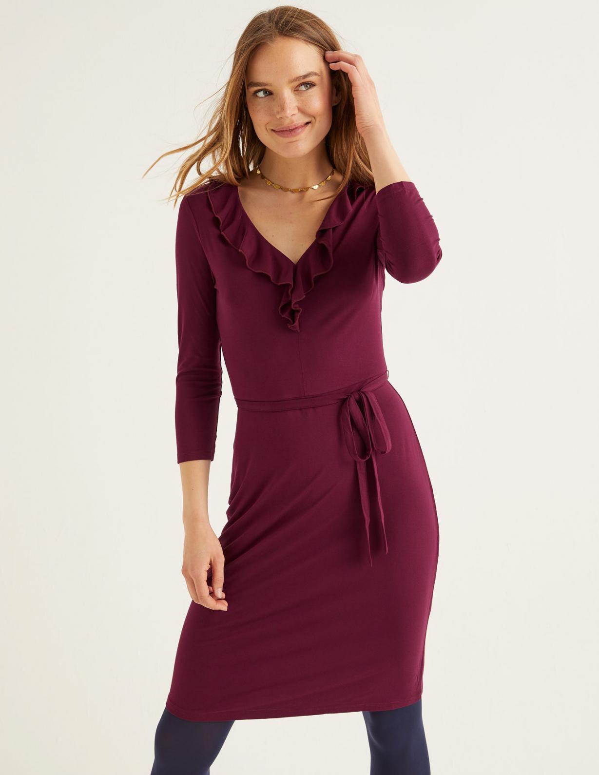 Boden Logan Jerseykleid Rubinrot  Damen Kleider