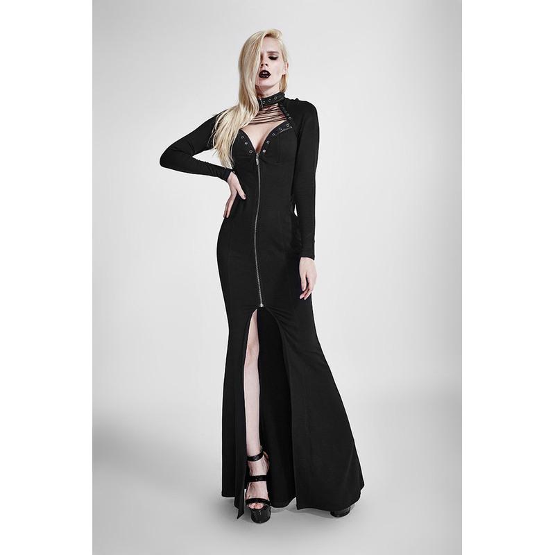 Bodenlanges Gothickleid Mit Schnürung  Boudoir Noir