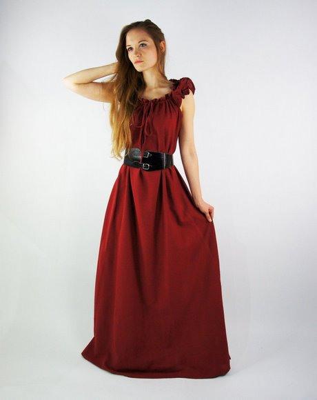 Bodenlanges Kleid Rot