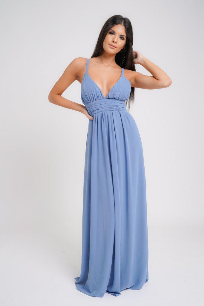 Bodenlanges Kleid  Vivianne  Dysty Blau  Affingosde