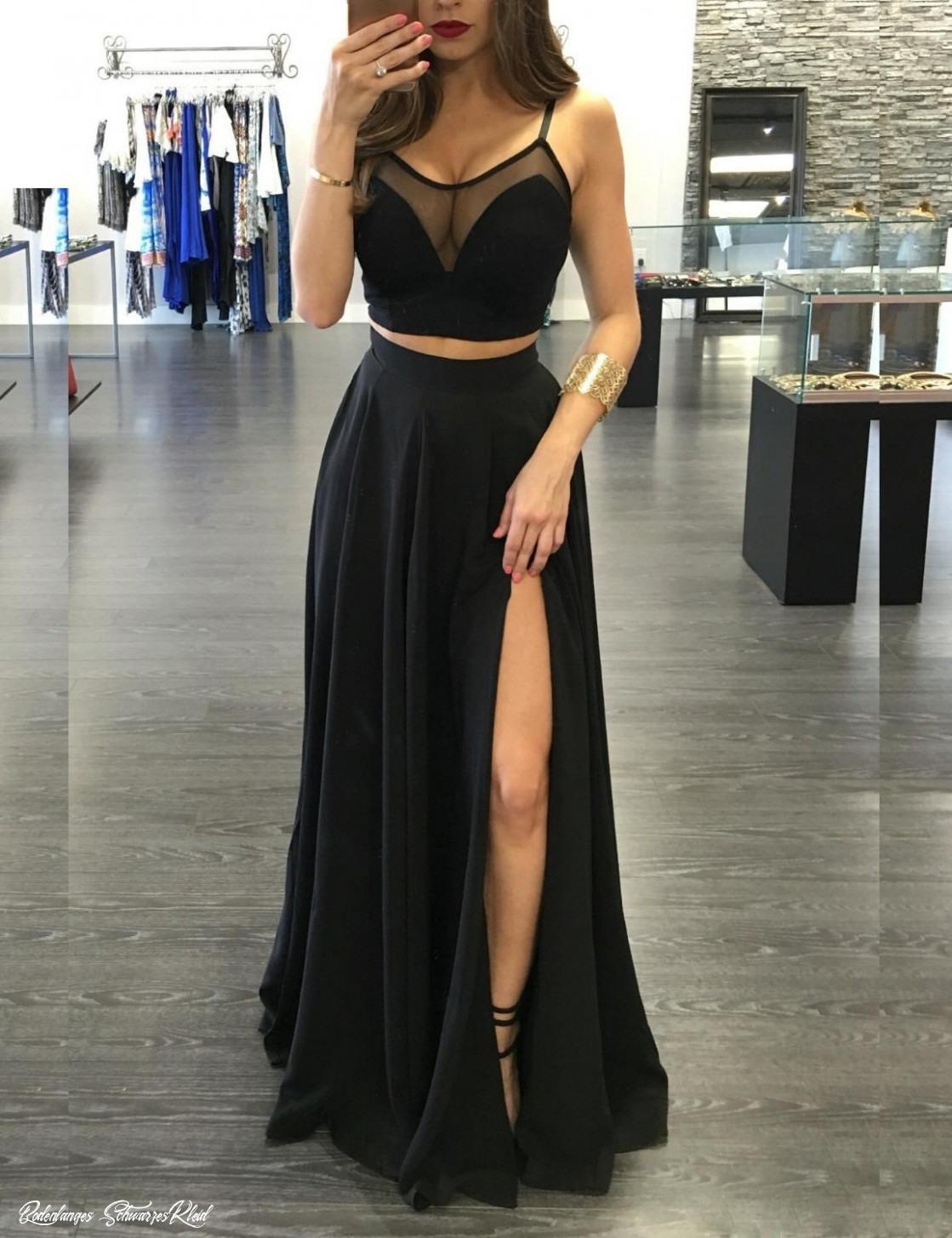 Bodenlanges Schwarzes Kleid  Abendkleider