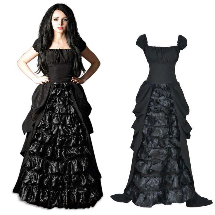 Bodenlanges Viktorianisches Kleid Morticia