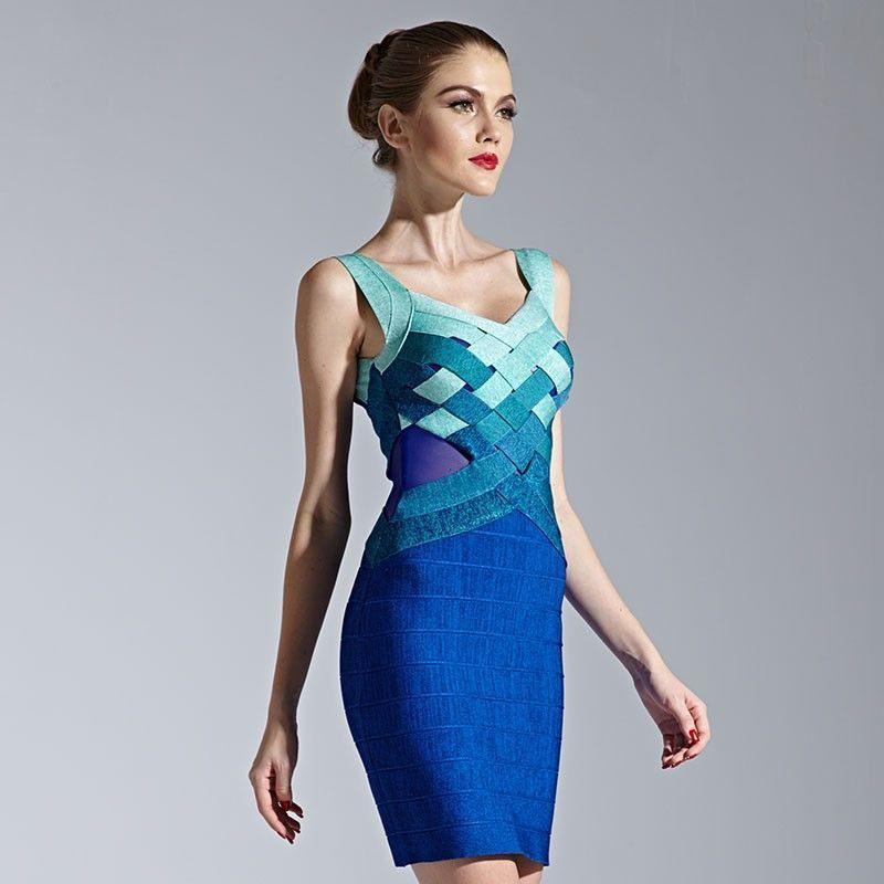 Bodycon Kleid Blau Hellblau  Bodycon Damen Mode Damenmode