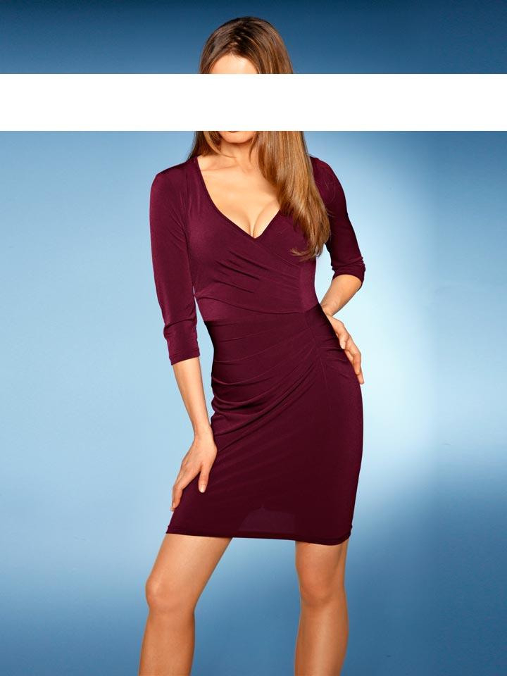 Bodyformingkleid Bordeaux  Kleider  Outlet Modeshop