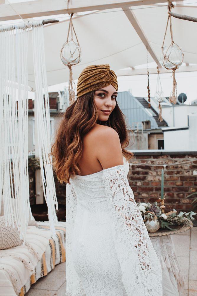 Bohemian Bride Bohemian Wedding Dress Turban  Böhmische