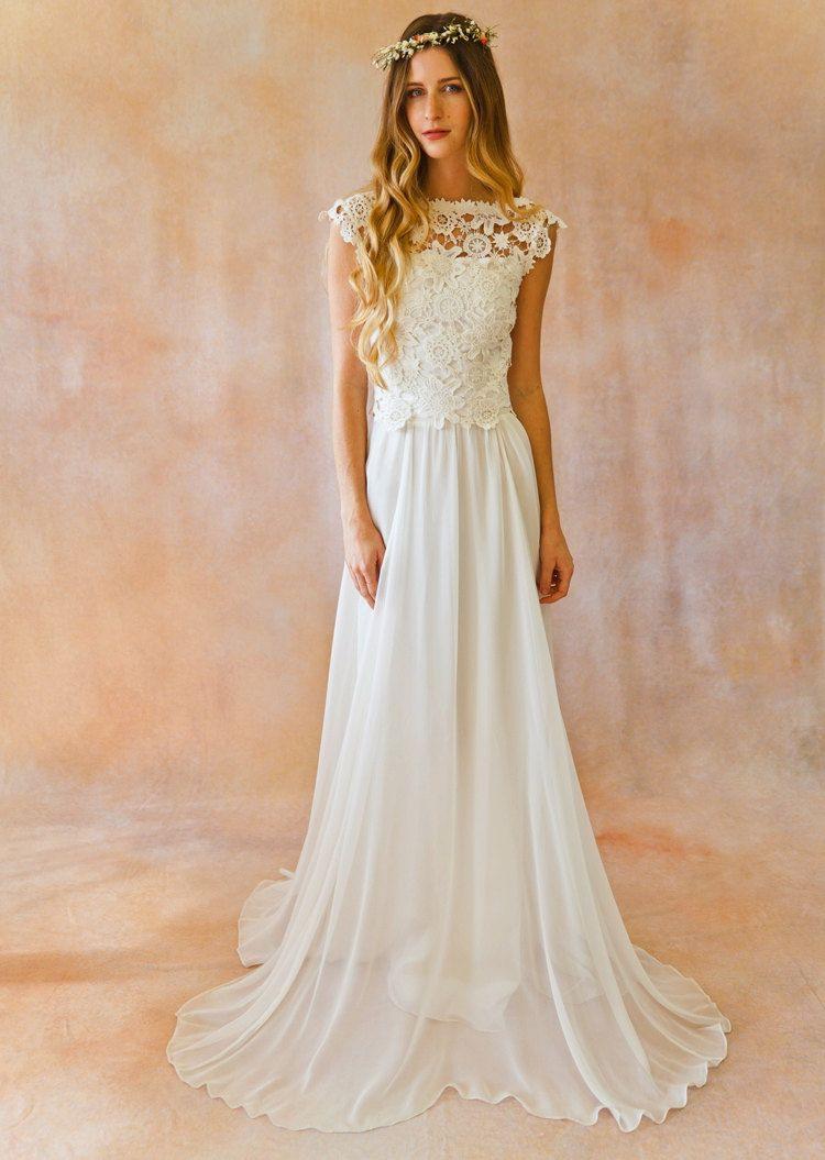 Bohemian Style Boohoo Hochzeitskleid  Hochzeittrauungparty