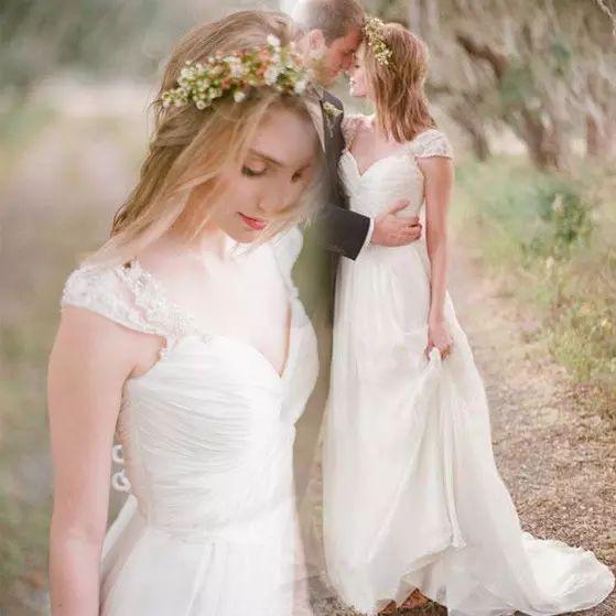 Bohemian Wedding Dresses 2018 Vintage Cap Sleeve Western