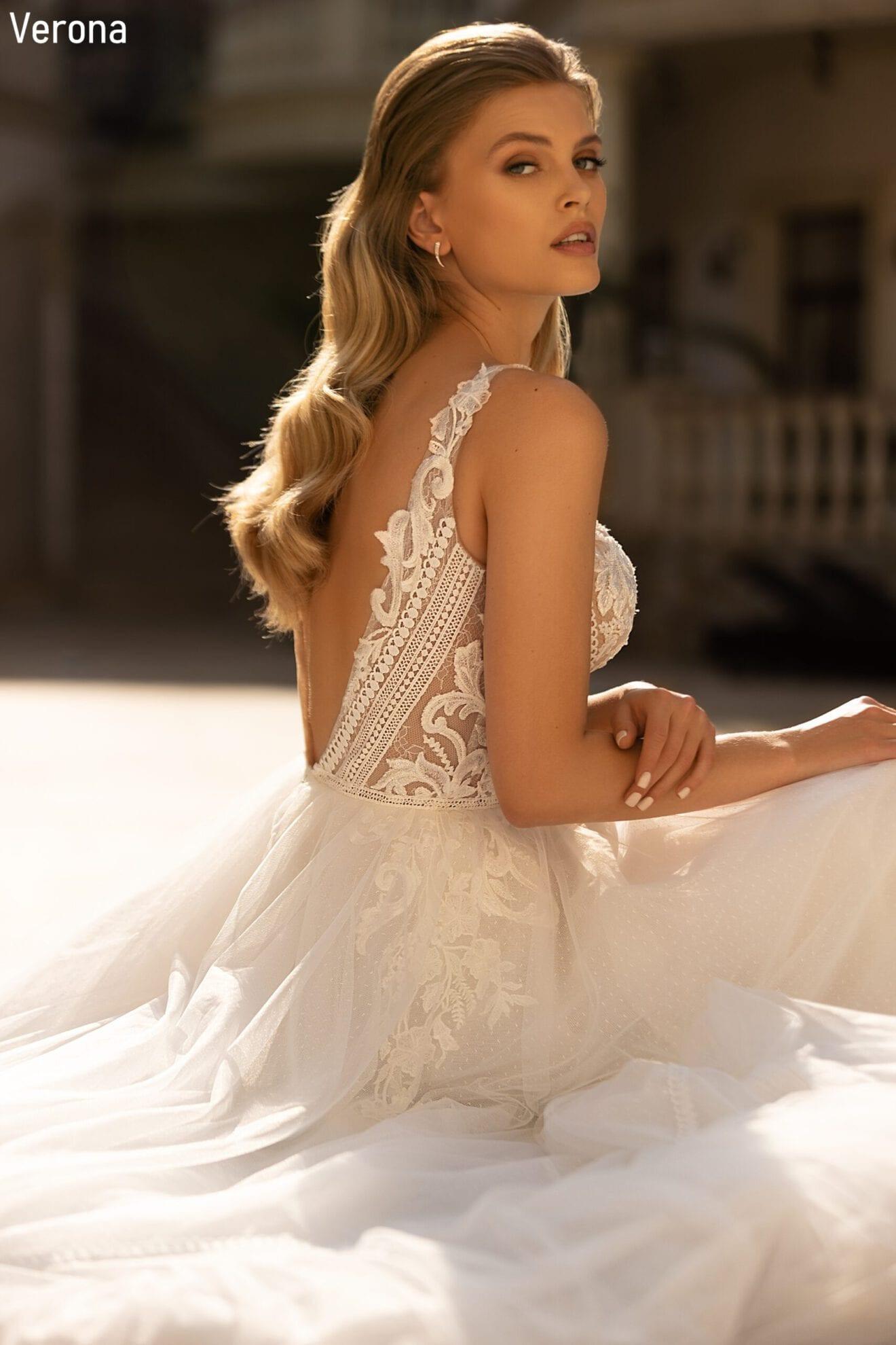 Boho Brautkleid  Bohemian Hochzeitskleid  Vintage Style