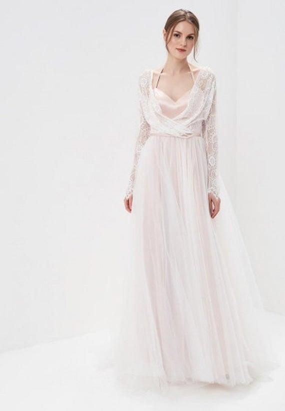Boho Hochzeit Kleid / Rosa Hochzeit Kleid / Vintage  Etsy