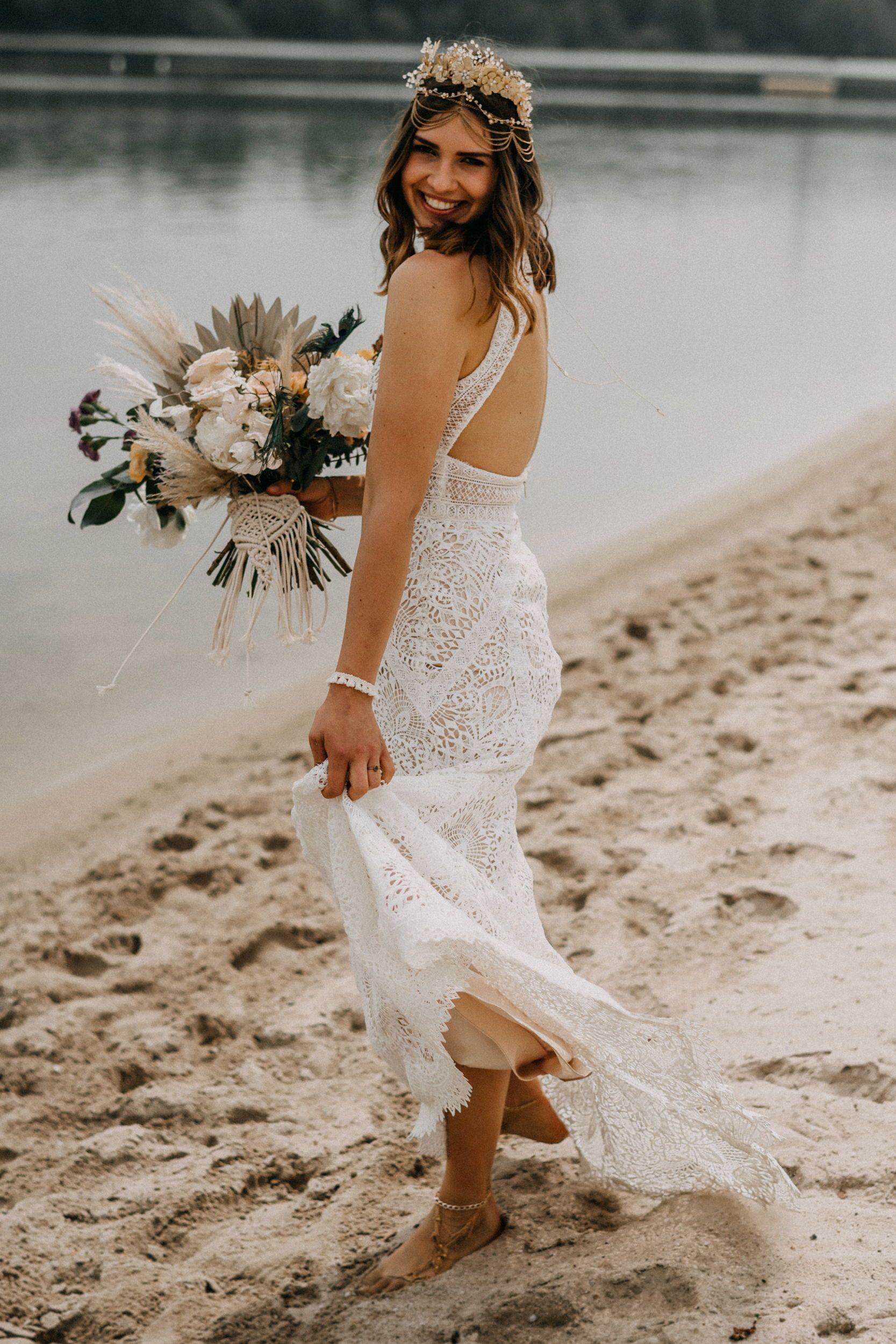 Boho Hochzeitsfotos Am Strand In 2020  Hochzeitsfotos