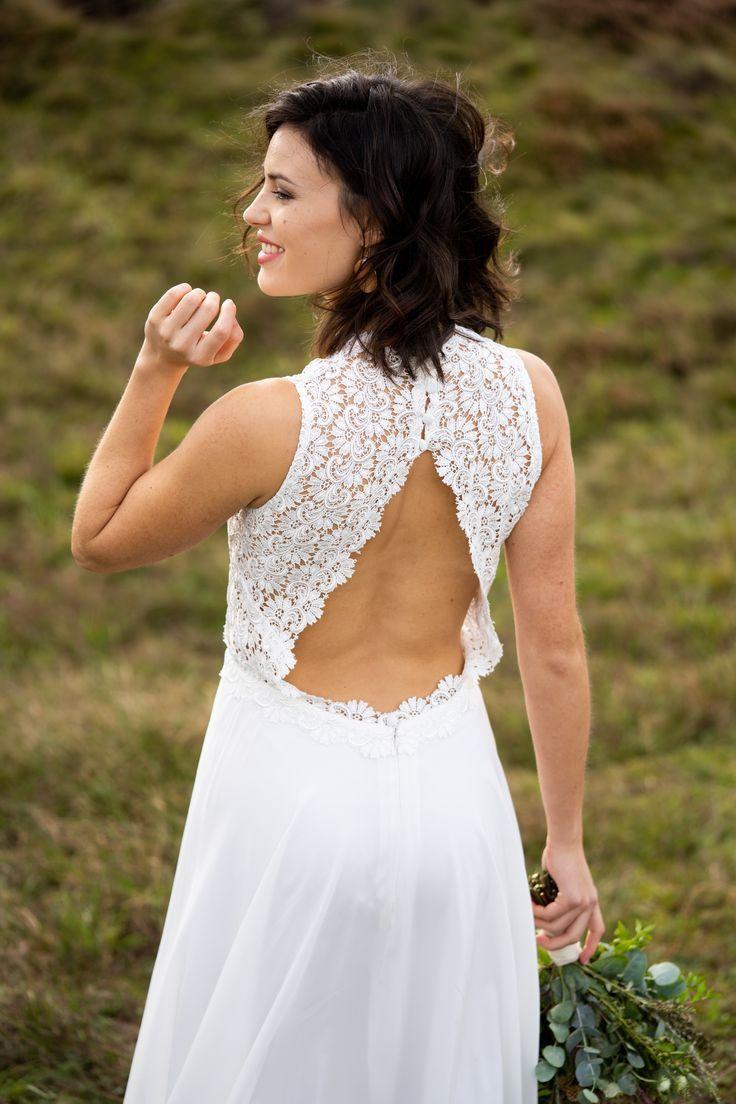 Boho Hochzeitskleid Rückenfrei Mit Spitze In 2020