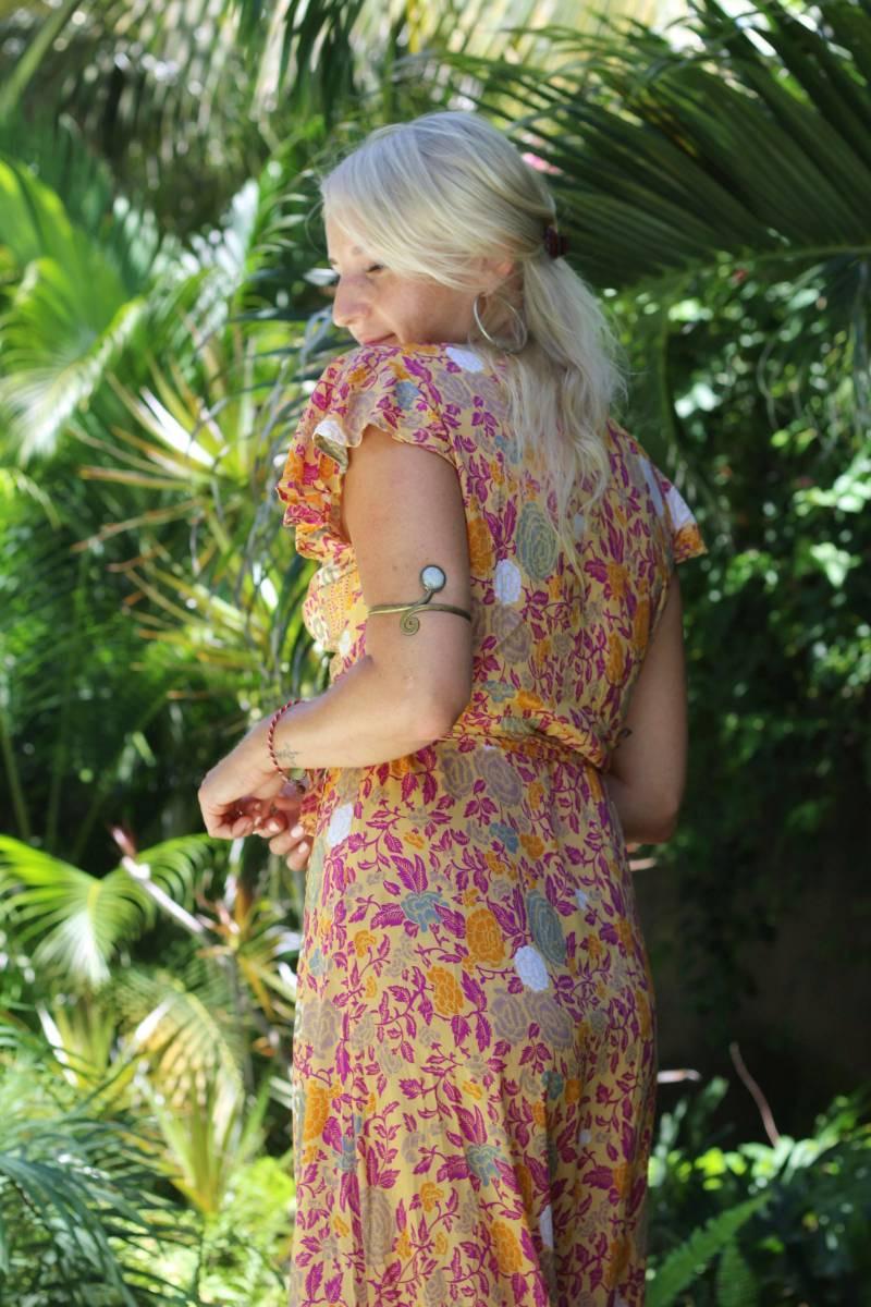 Boho Sommerkleid Lang Zum Wickeln Mit Sommerlichem