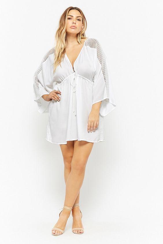 Boho Weiße Kleid Große Größen Weiße Partykleider Für