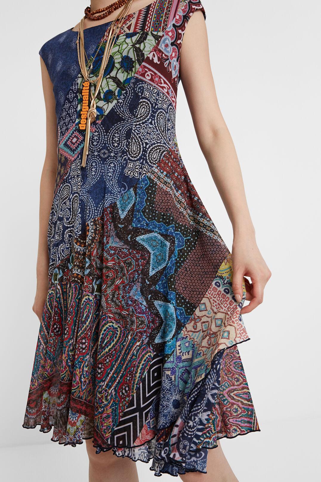 Bohokleid Mit Patches Mehrfarbig  Desigual Damen Kleider