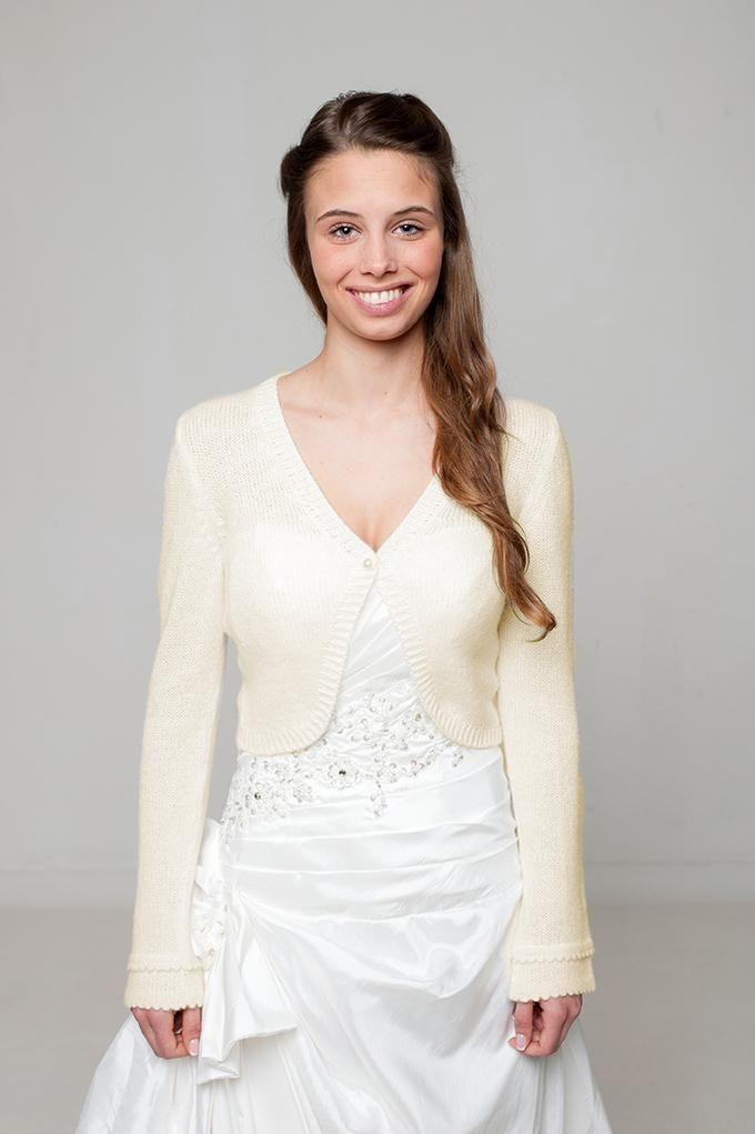 Bolero Weiß Und Ivory Für Boho Hochzeiten Aus Kaschmir