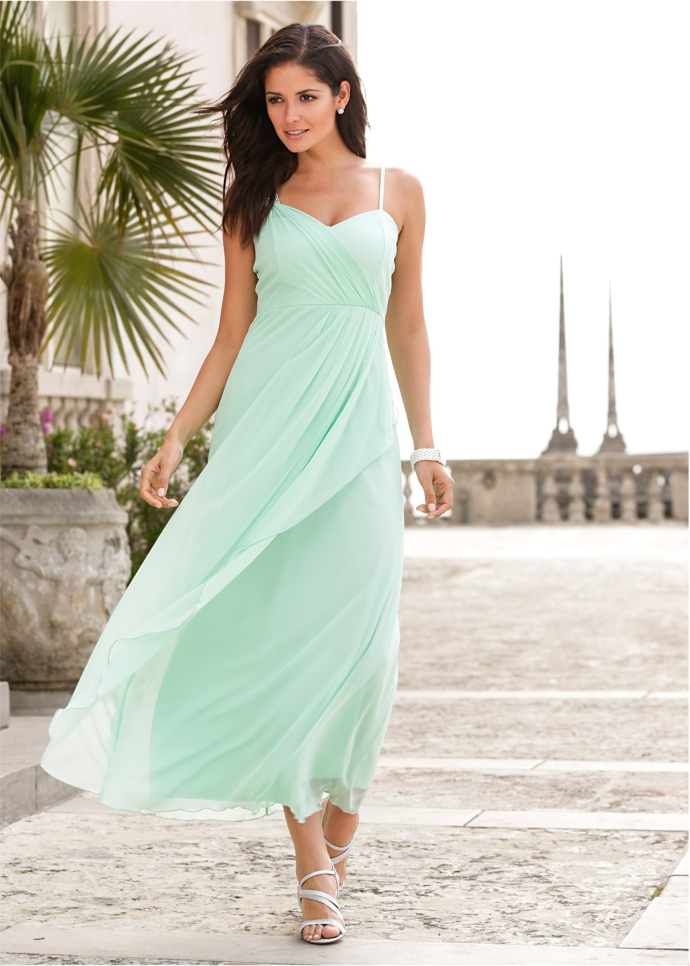 Bonprix Glamorous Maxi Dress With Decorative Element